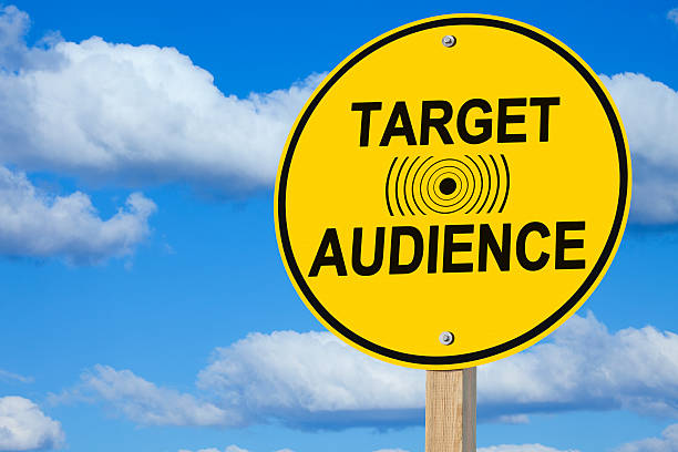Target Audience Sign stock photo