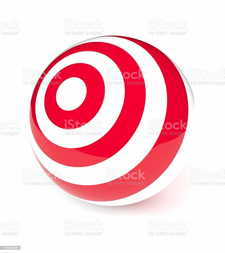 Target Ball royalty-free stock photo