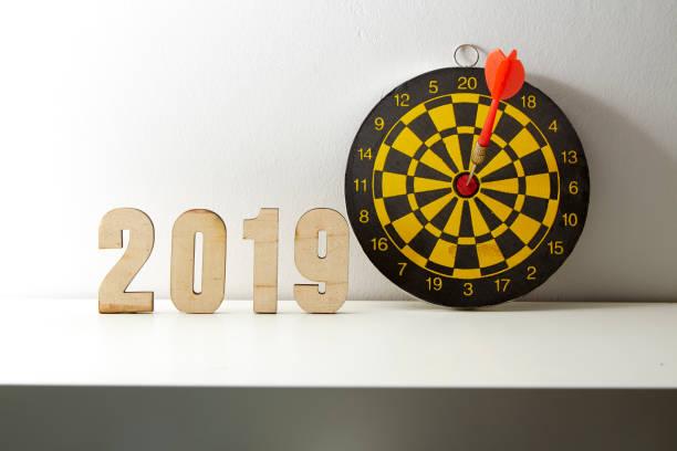 2019 アイデアのビジネス目標と成功につながる目標をターゲットします。 ストックフォト
