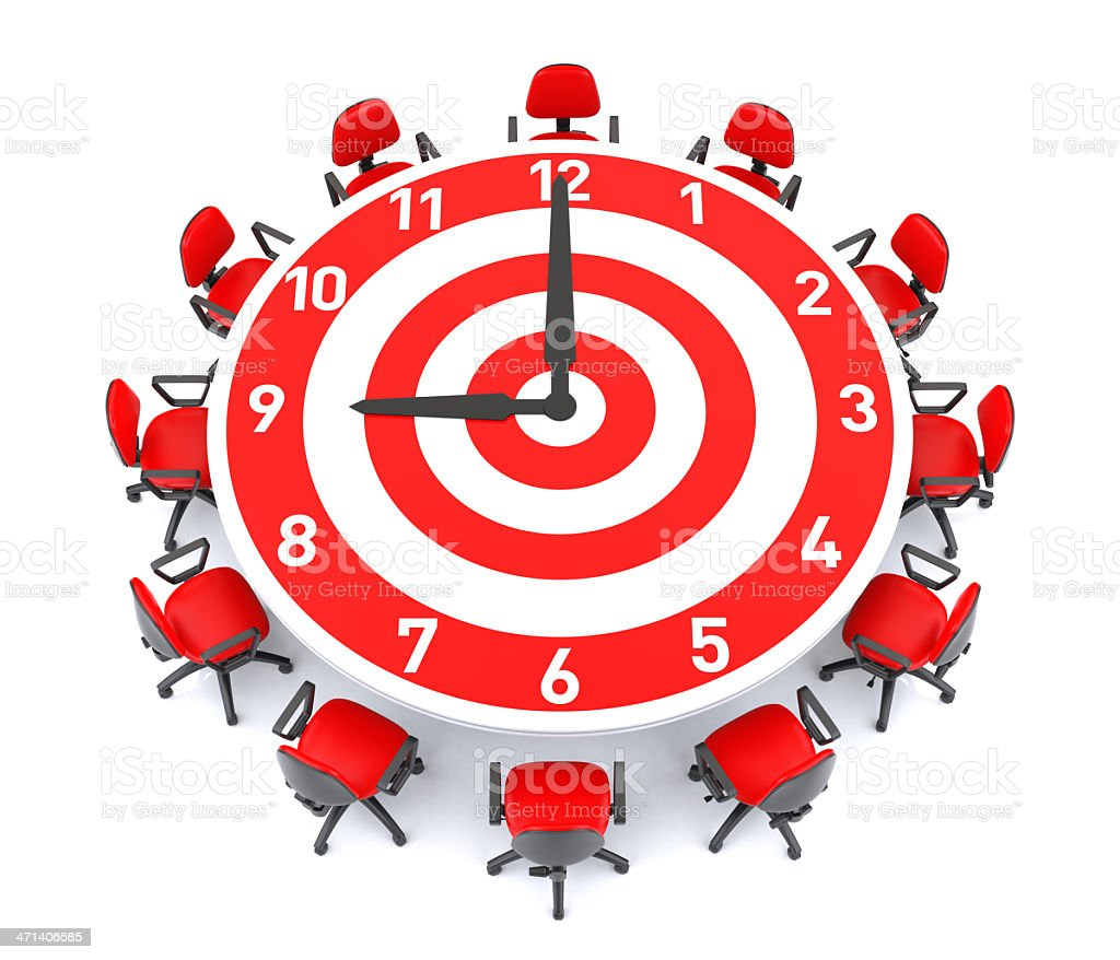 Target Clock Meeting Table Stock Photo IStock - Target conference table
