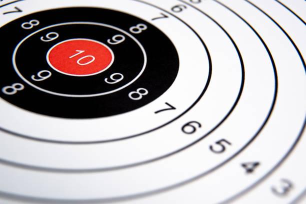 Target Close-Up, Business Success, Goal Concept. stock photo