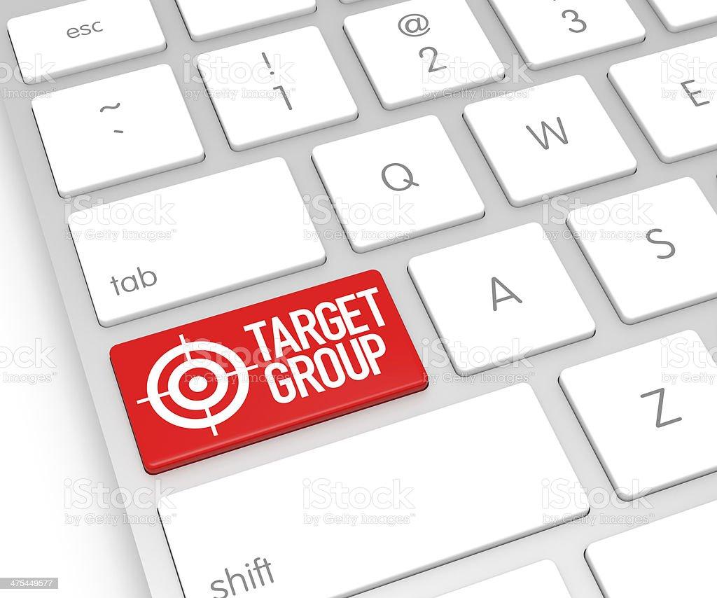 Target Computer Key royalty-free stock photo