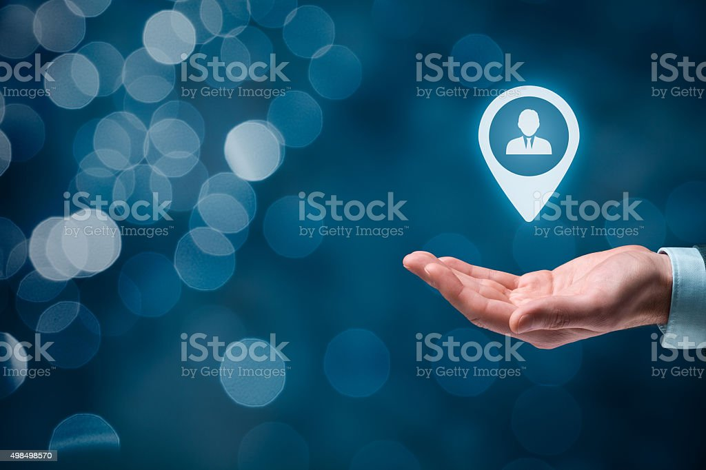 Target customer stock photo