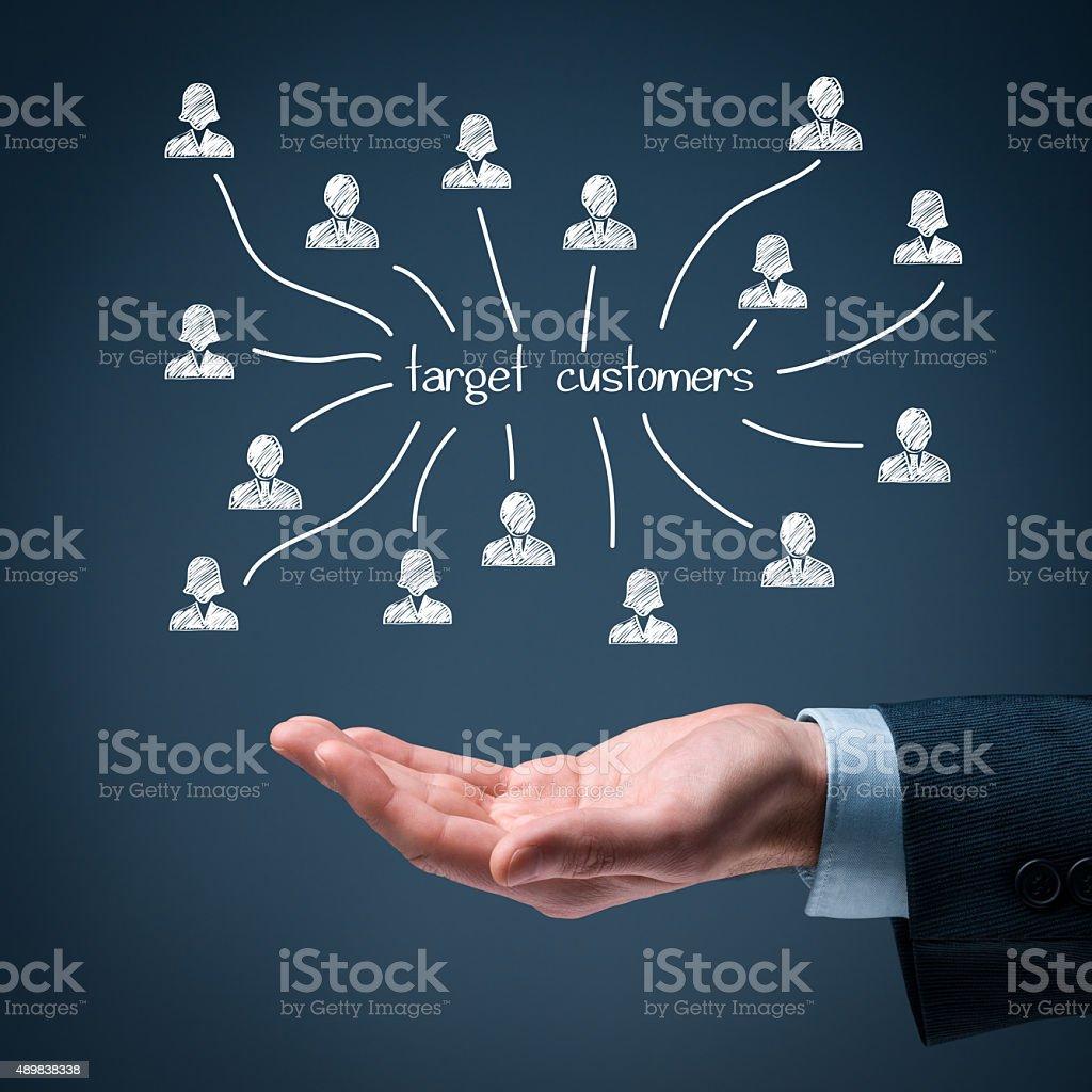 Target customers stock photo