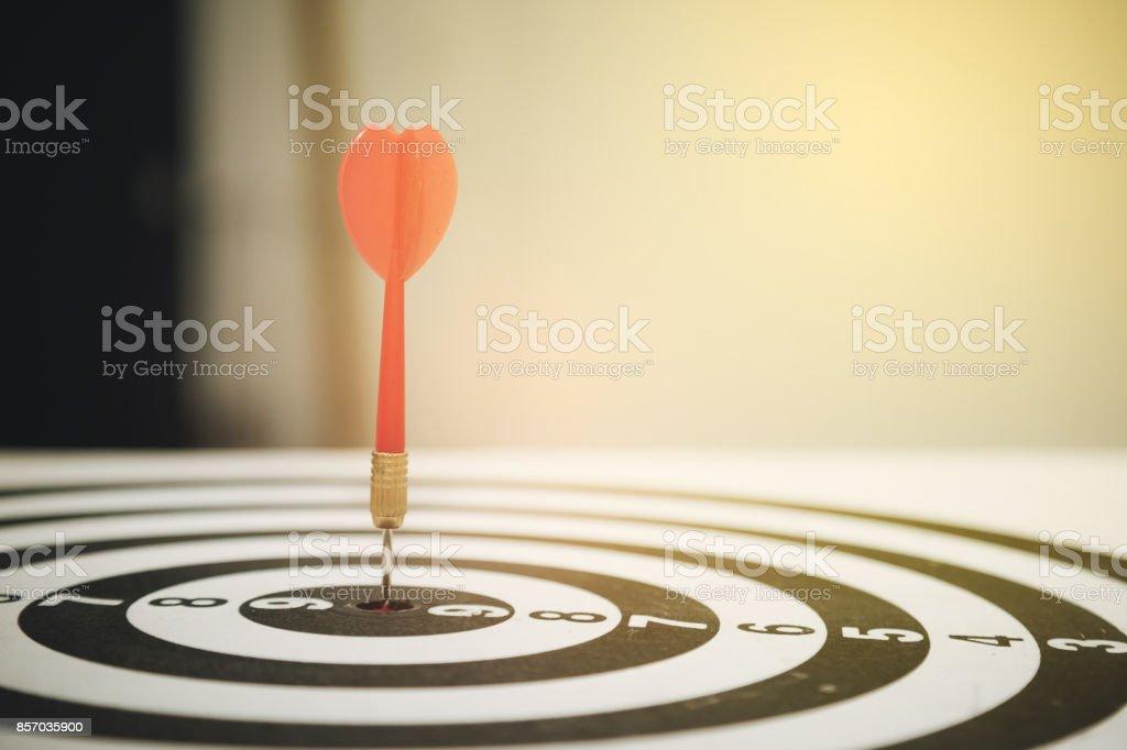 target dart with arrow stock photo