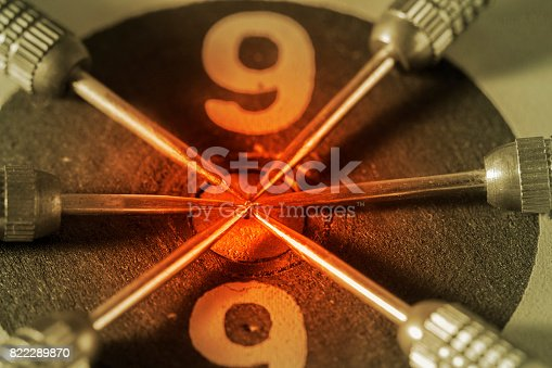 istock target dart with target arrows on the bokeh background and dartboard is the target and goalabstract background to target marketing or target arrow or target business concept 822289870