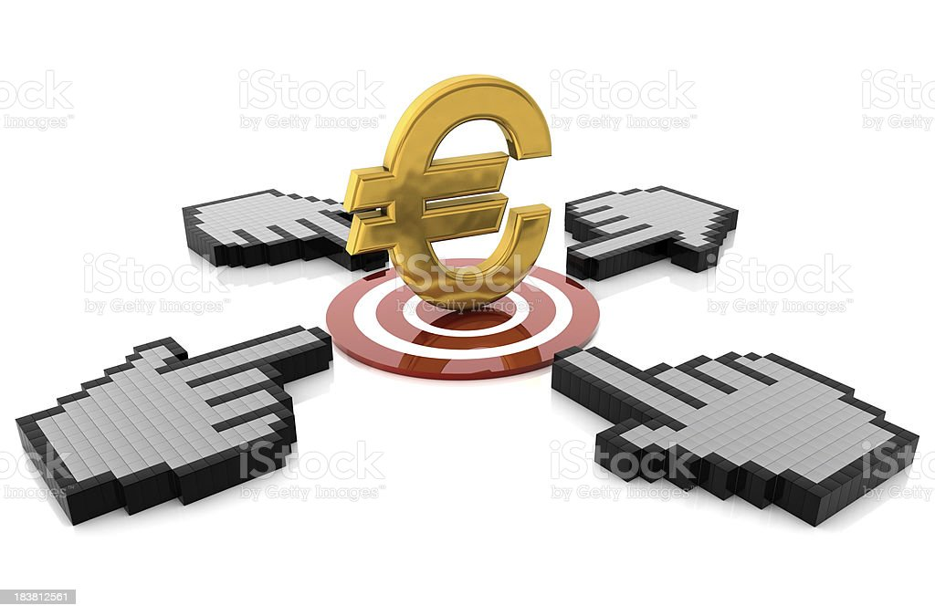 Target Euro stock photo