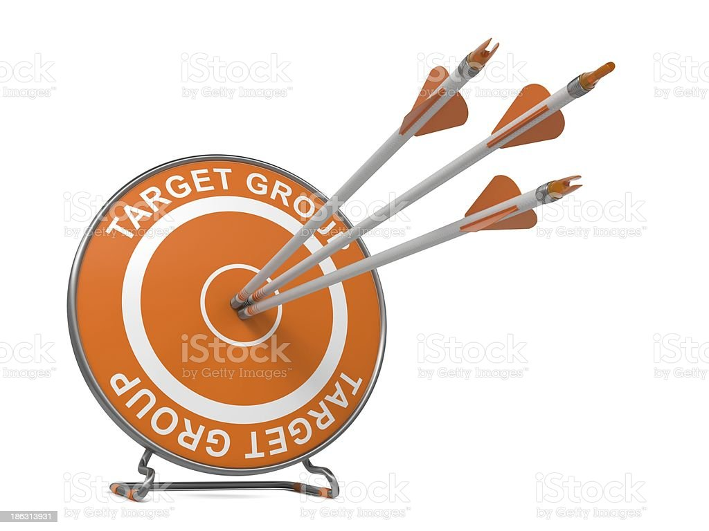 Target Group. Business Background. royalty-free stock photo