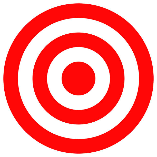 target icon - sports target stock photos and pictures