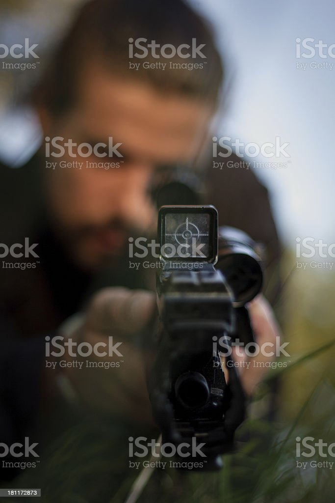 Target in Focus royalty-free stock photo