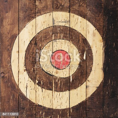 istock Target is painted on wooden planks 841113910