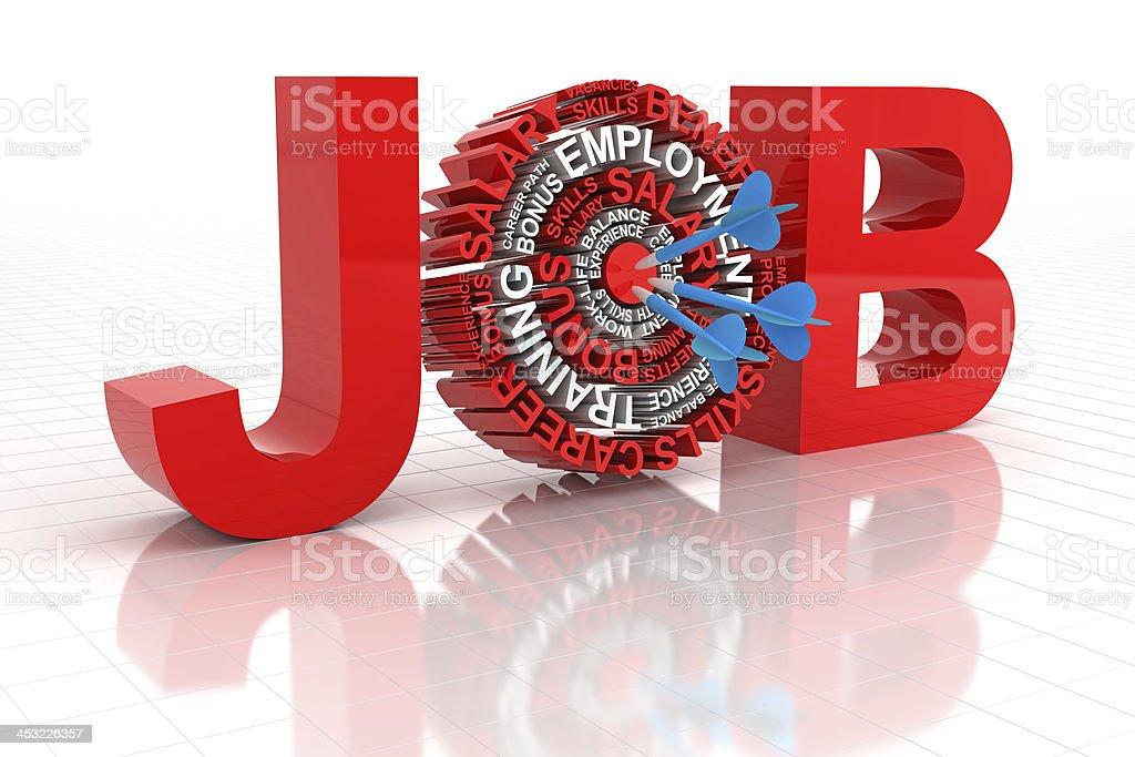 Target job royalty-free stock photo