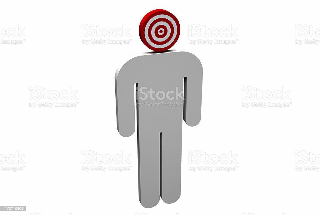 Target Man royalty-free stock photo