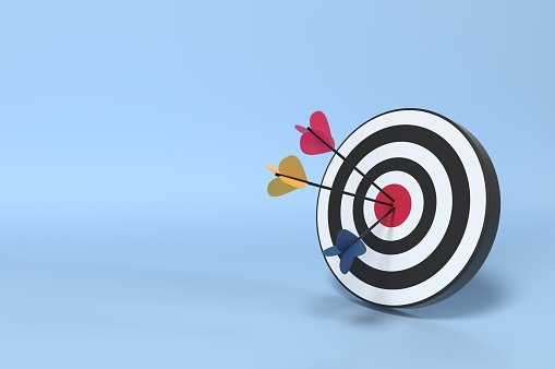 921518946 istock photo Target Market and Client 1156640849