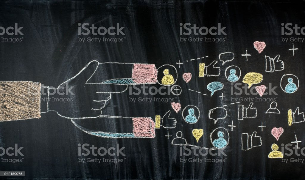 Target market concept, attracting customers stock photo