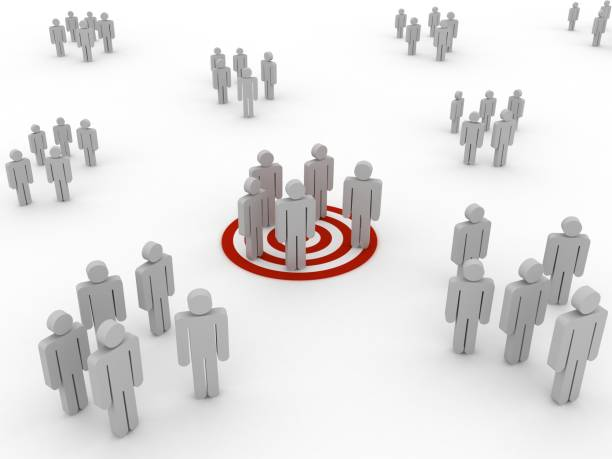 Target market people competition concept stock photo