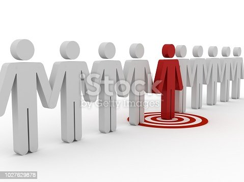 935757718 istock photo Target market people competition leadership 1027629878