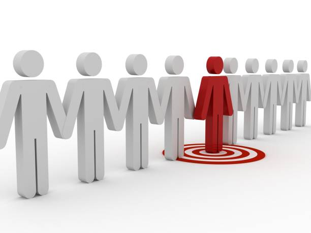 Target market people competition leadership stock photo