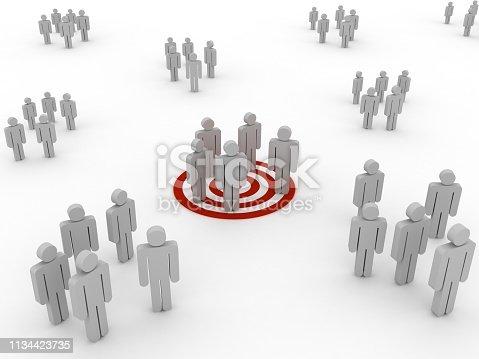 Target market people competition teamwork