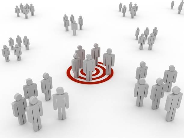 Zielgruppe Menschen konkurrieren Teamarbeit – Foto