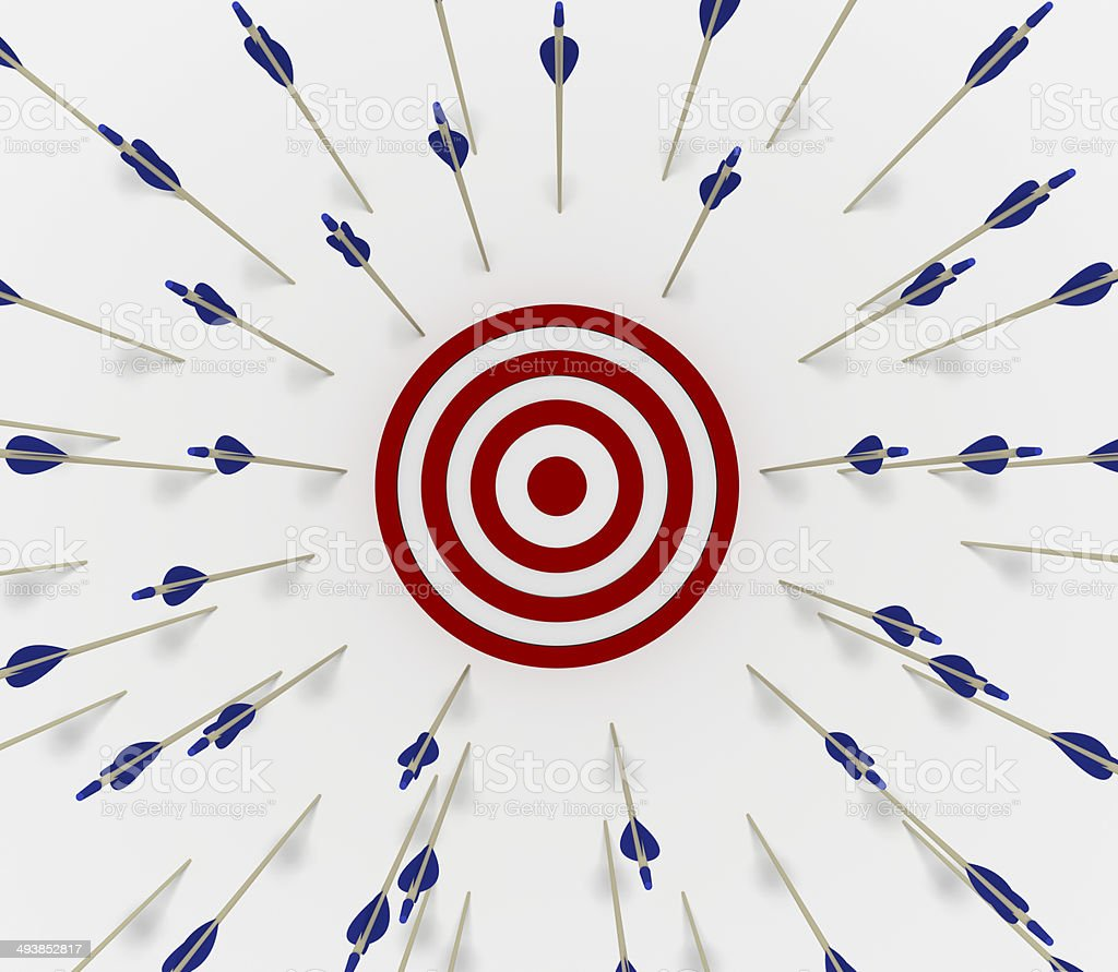 Target miss stock photo