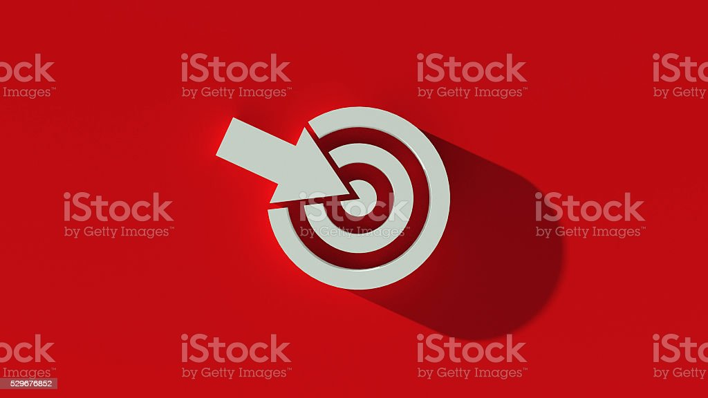 Target / Objectives symbol with long shadow. stock photo