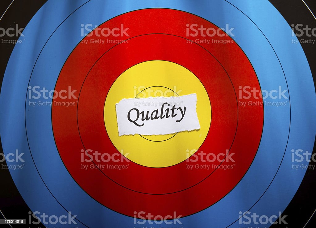Target on quality concept royalty-free stock photo