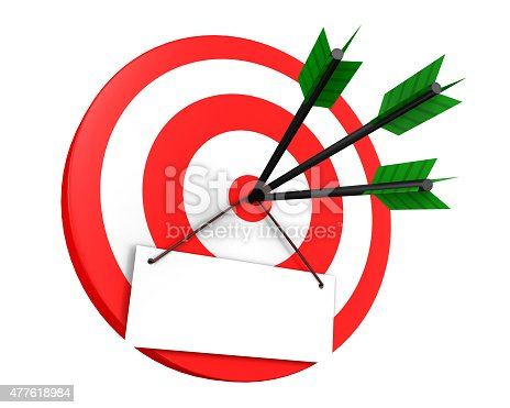 A Target, Isolated On White Background, 3d render