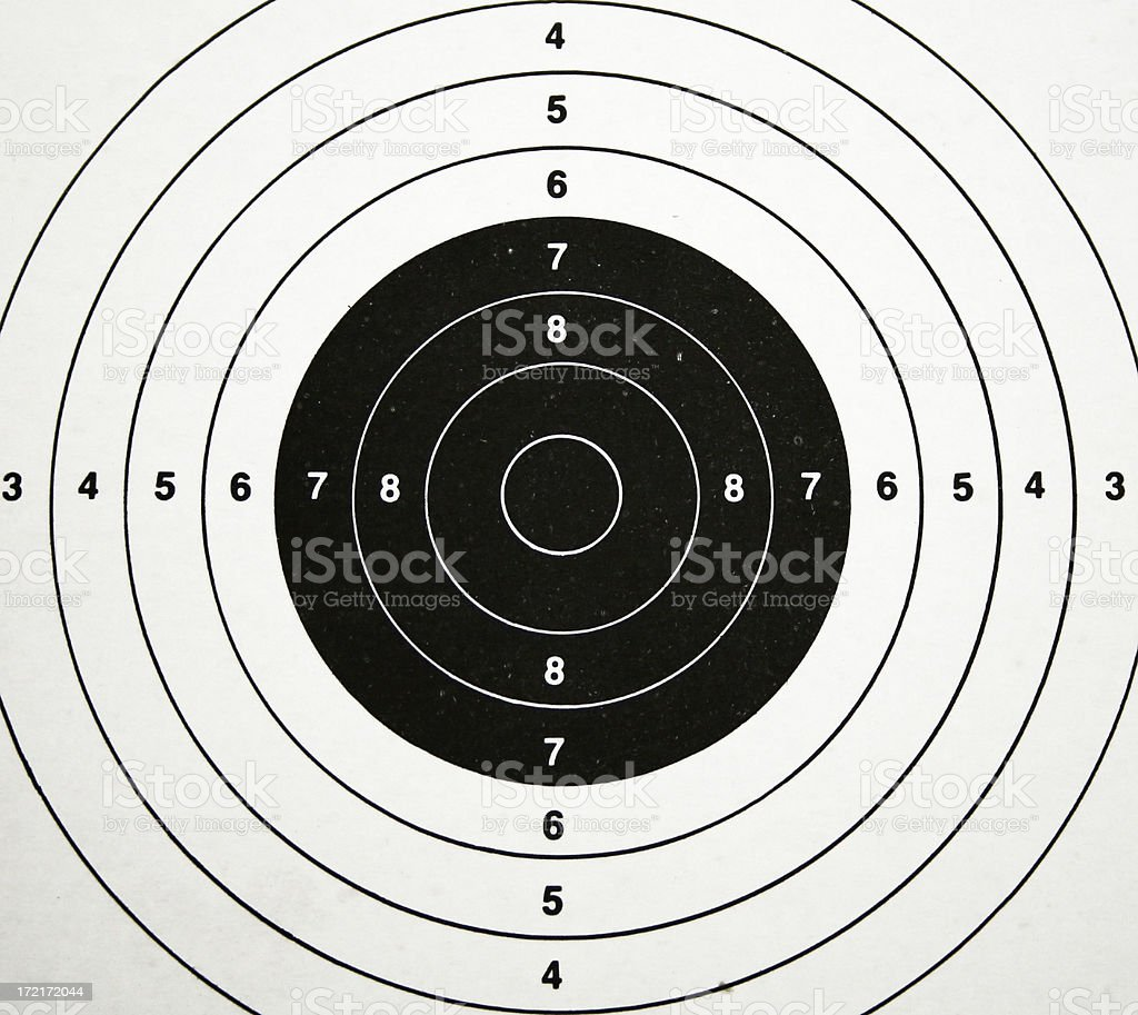 Target Practice #4 royalty-free stock photo