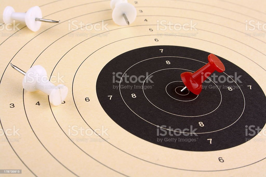 Target prevail and win against competitors stock photo