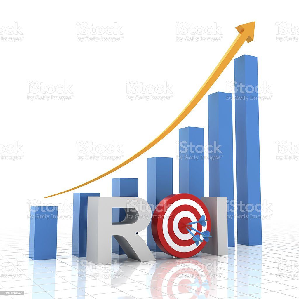 Target return on investment, 3d render royalty-free stock photo