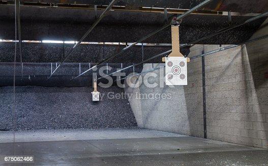 istock Target rows at a shooting range. 675062466