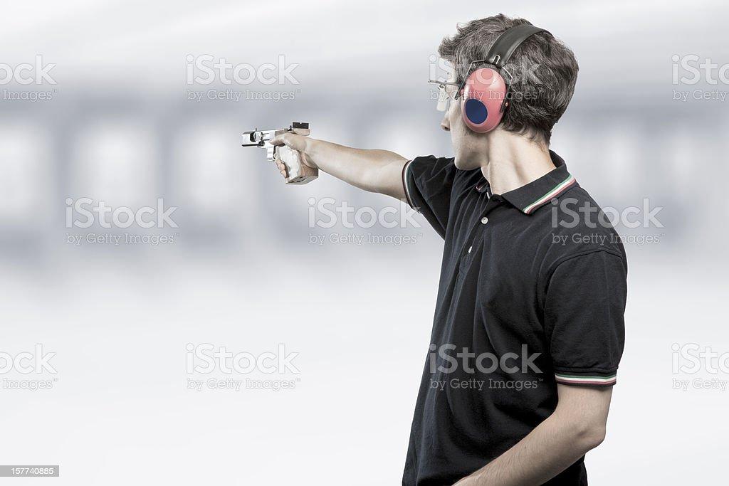 Target Shooting Athlete