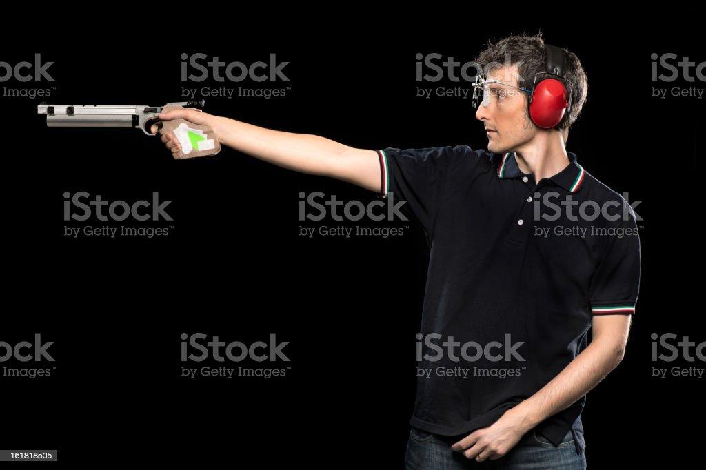 Target Shooting Athlete stock photo