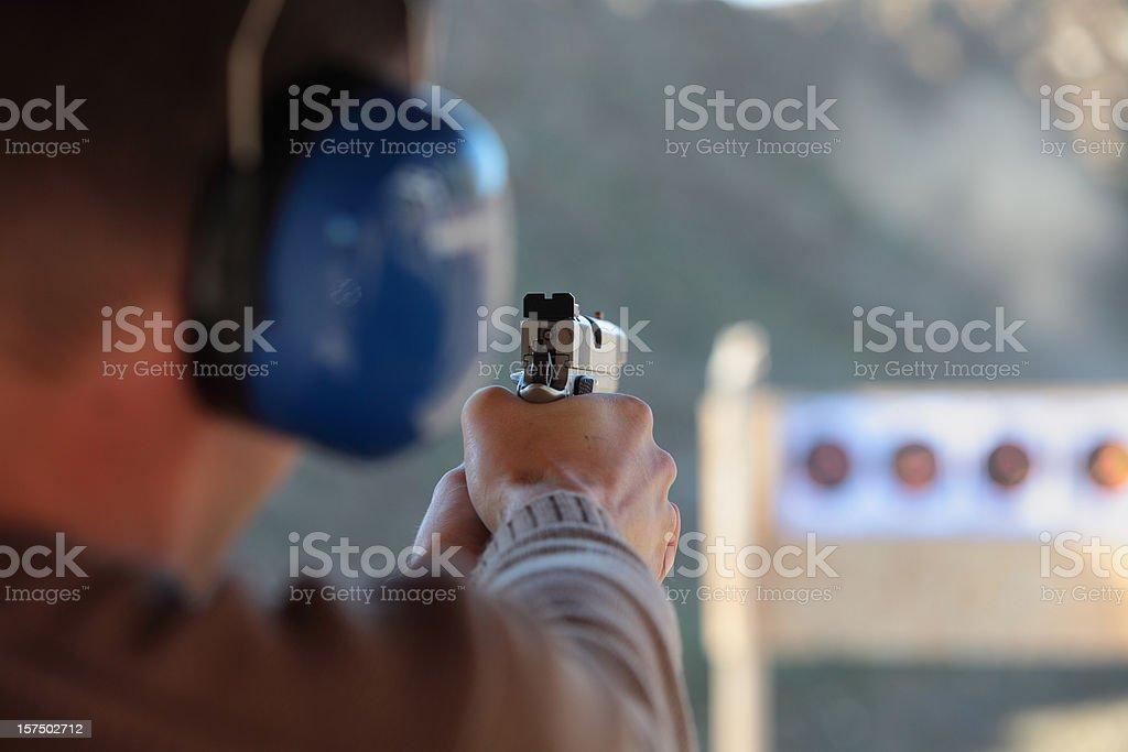 Target  Shooting (XXXL) royalty-free stock photo