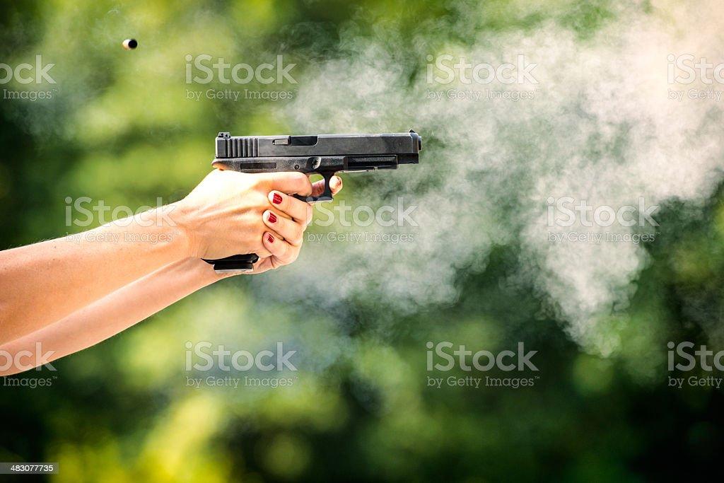 Target shooting royalty-free stock photo
