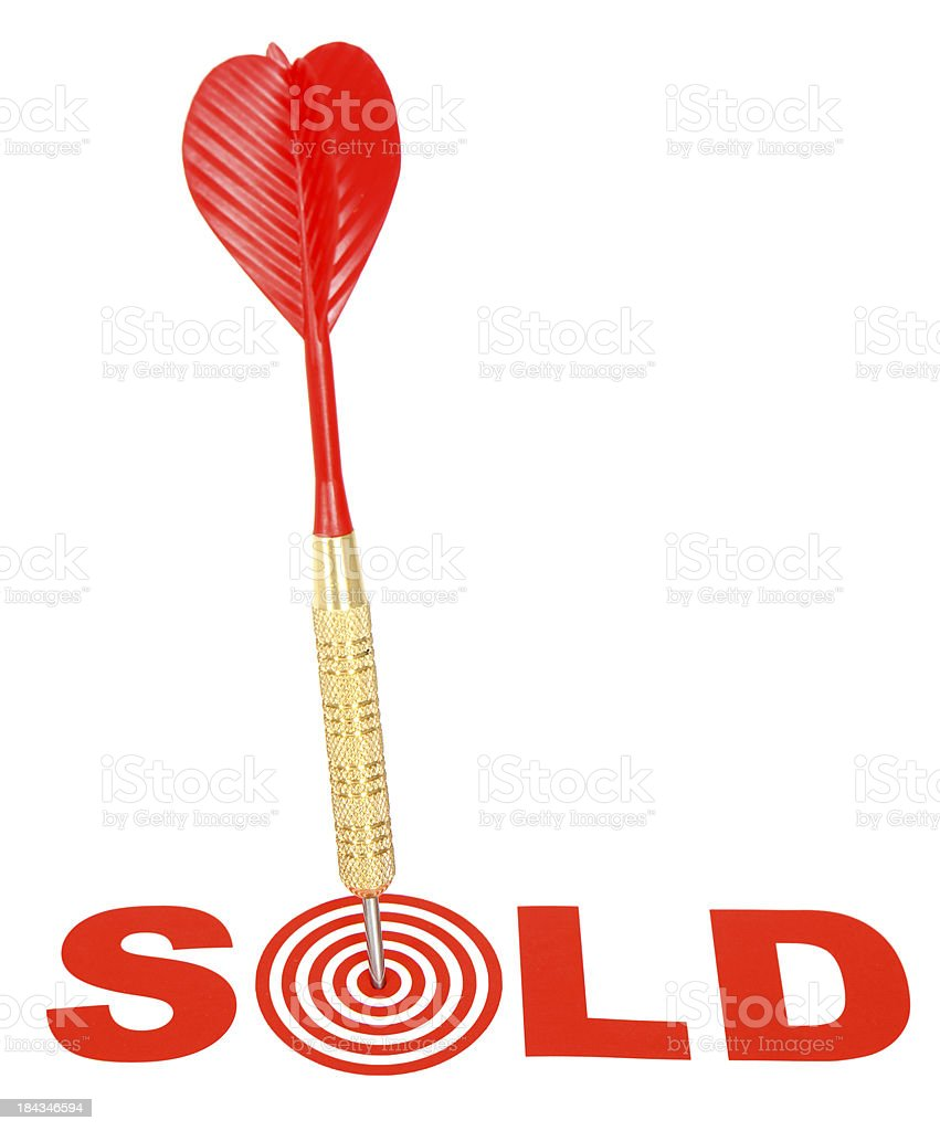 Target - SOLD! royalty-free stock photo