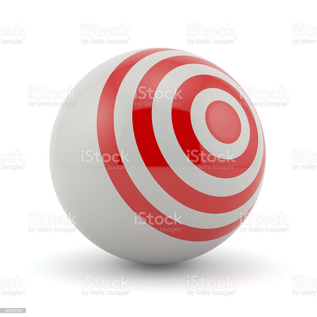 target sphere royalty-free stock photo