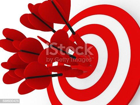 859332096 istock photo Target. Success concept. 3d illustration 538930425