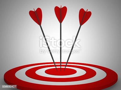 859332096 istock photo Target. Success concept. 3d illustration 538930427