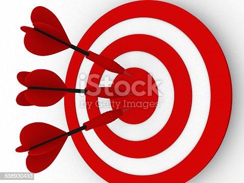 859332096 istock photo Target. Success concept 538930433