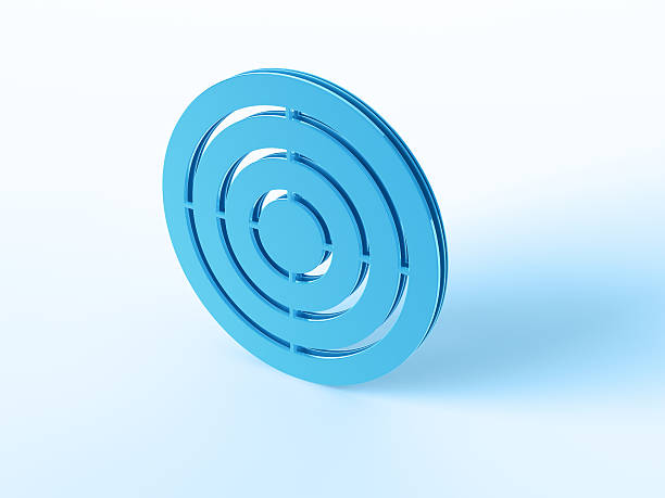 Target Symbol 3D Render of a blue Target Symbol. Very high resolution available! Use it for Your own composings!Related images: blue 3d business NOT map NOT background stock pictures, royalty-free photos & images