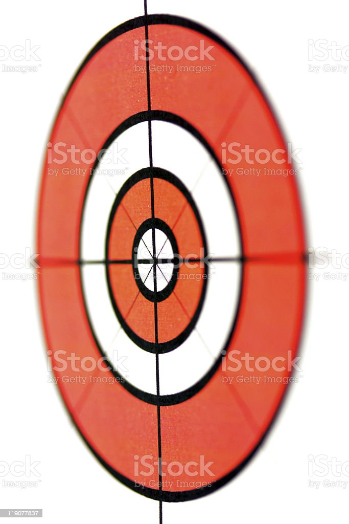 Target symbol short focus and isolated stock photo