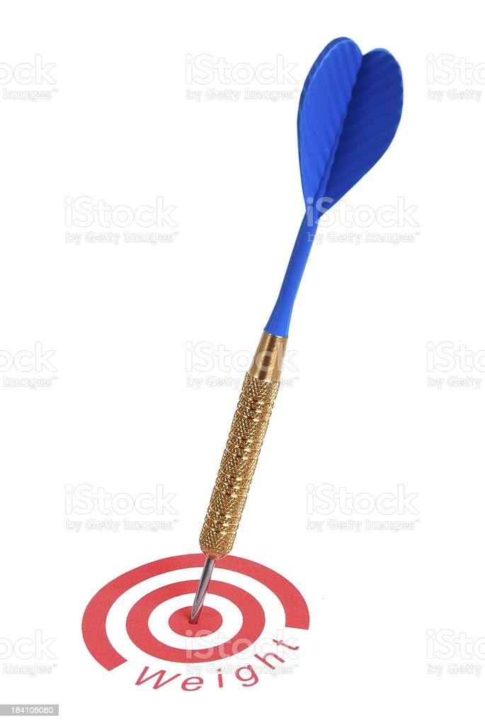 Target Weight royalty-free stock photo