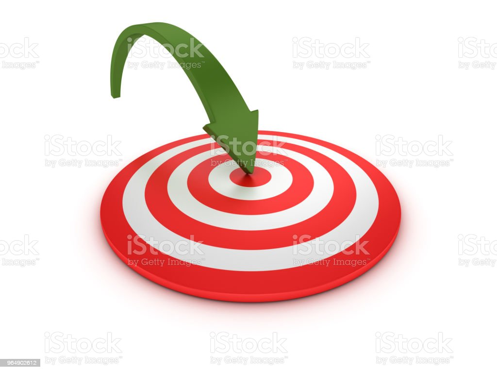 Target with Arrow - 3D Rendering royalty-free stock photo