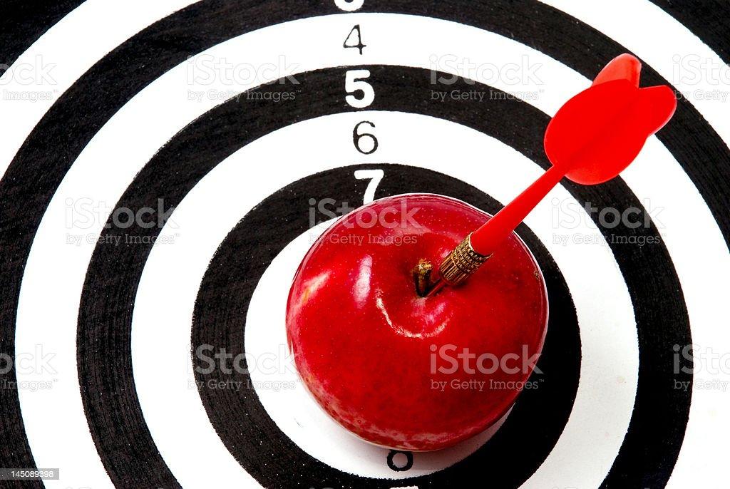 Ziel, mit Pfeil und apple – Foto