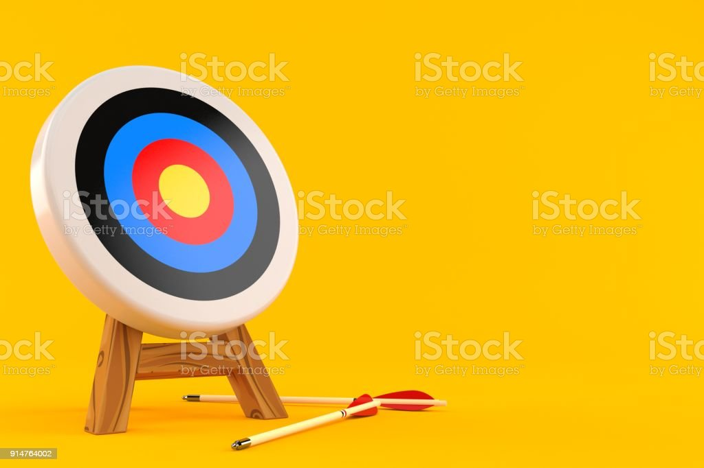 Target with arrows stock photo