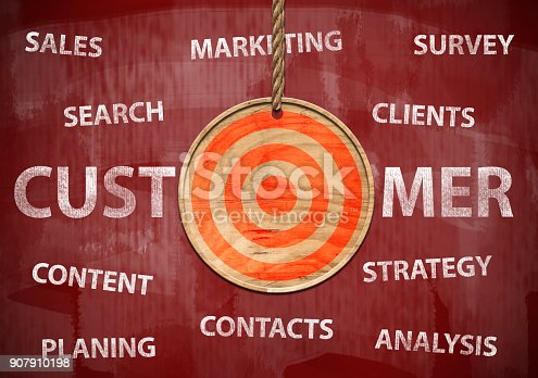 istock Target your customer / Red board cocnept (Click for more) 907910198