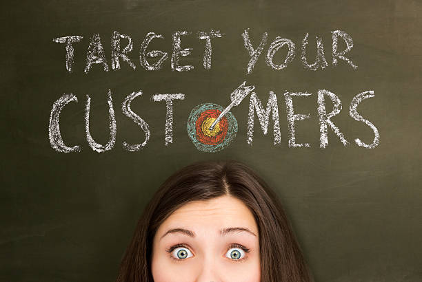 Target your customers stock photo