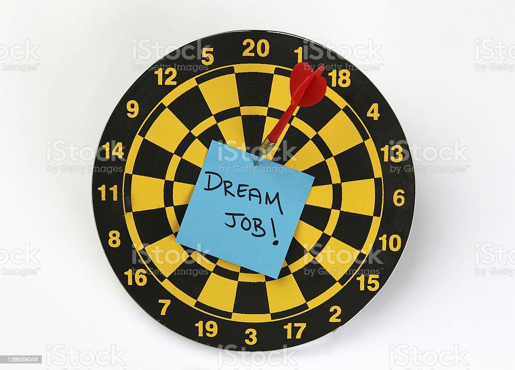 Target Your Dream Job stock photo